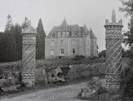 Le château de la Malvergne en 1904