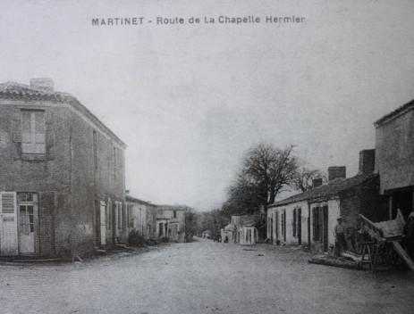 Le centre bourg dans les années 1910