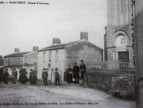 Au départ de la route d'Aizenay en 1911.