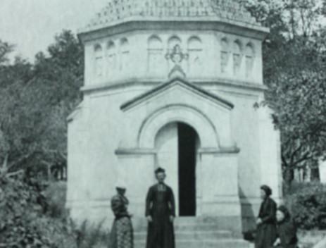 La chapelle dans le parc de la Salette vers 1890